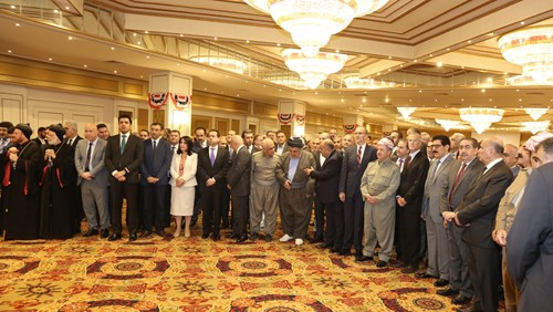 President Barzani in ceremony of USA independence day.2