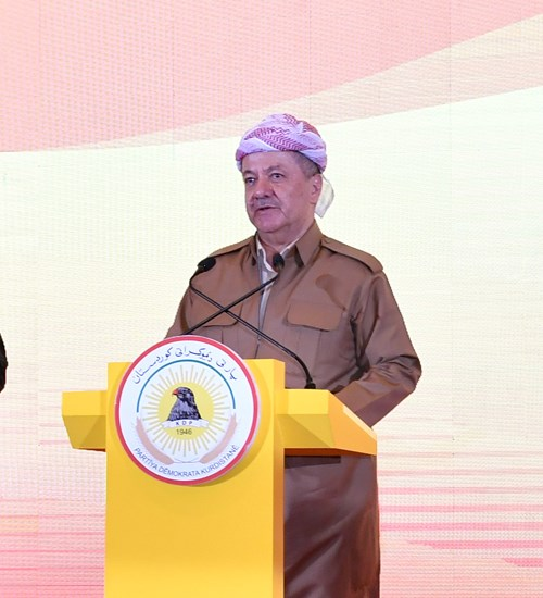 President Barzani at 16th of august 2