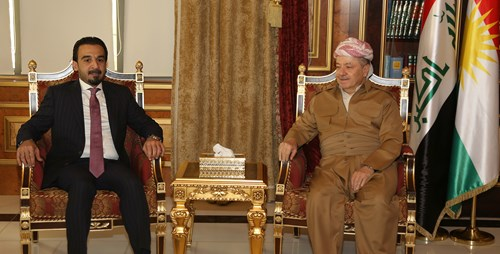 President Barzani with  President of the Parliament Mohmeed Halbose 1  22-9-2018